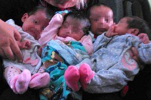 4 vida babies faces blurred